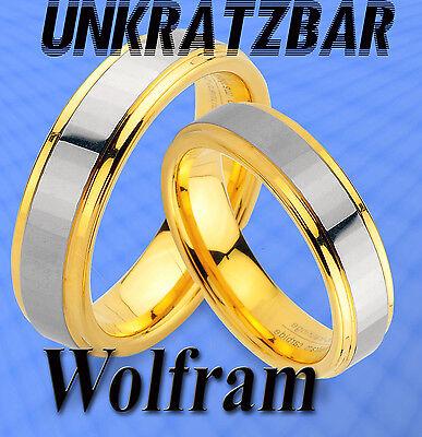 2 Wolfram Ringe Inkl Gravur Gratis M. Ip Gold Platierung Trauringe Eheringe Jw10