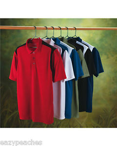 IZOD-GOLF-Mens-Size-S-3XL-Dri-Fit-Color-Block-Stripe-Body-Map-Polo-Sport-Shirts