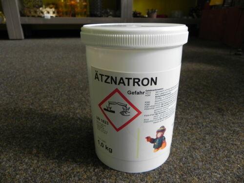 Ätznatron 1Kg Pulver z.Desinfizieren Imkerei,Imker,Seifenherstellung,Seife