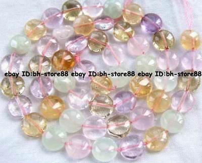 8x8x5mm natural multicolor quartz roundel Beads 15''