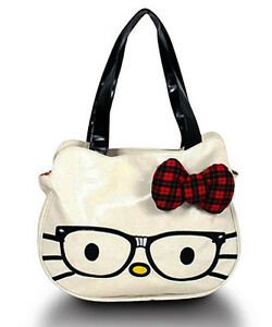 Loungefly-AUTHENTIC-HELLO-KITTY-NERD-FACE-BAG-TOTE