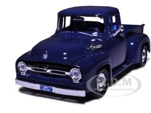 1956-FORD-F-100-PICKUP-BLUE-1-24-DIECAST-MODEL-CAR