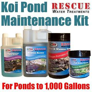Small koi pond maintenance kit for 1000 gallons ebay for Koi pond maintenance service