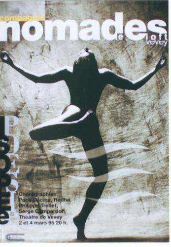 Original vintage poster NOMADES SWISS BALLET DANCE 1995