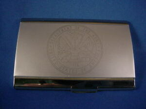UNITED STATES ARMY LOGO DESIGN BUSINESS CARD HOLDER NEW