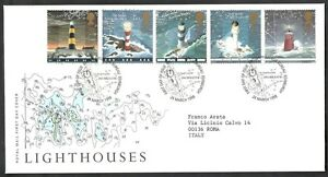 Prix ​​Pas Cher 1998 Gb Fdc Lighthouses - 001