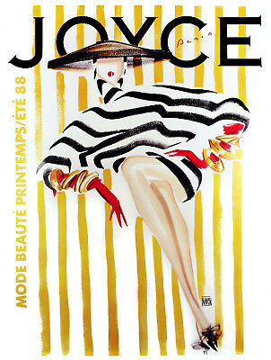 Vintage French POSTER.STRIPES.Fashion Art Decor.Home Deco Interior design.459