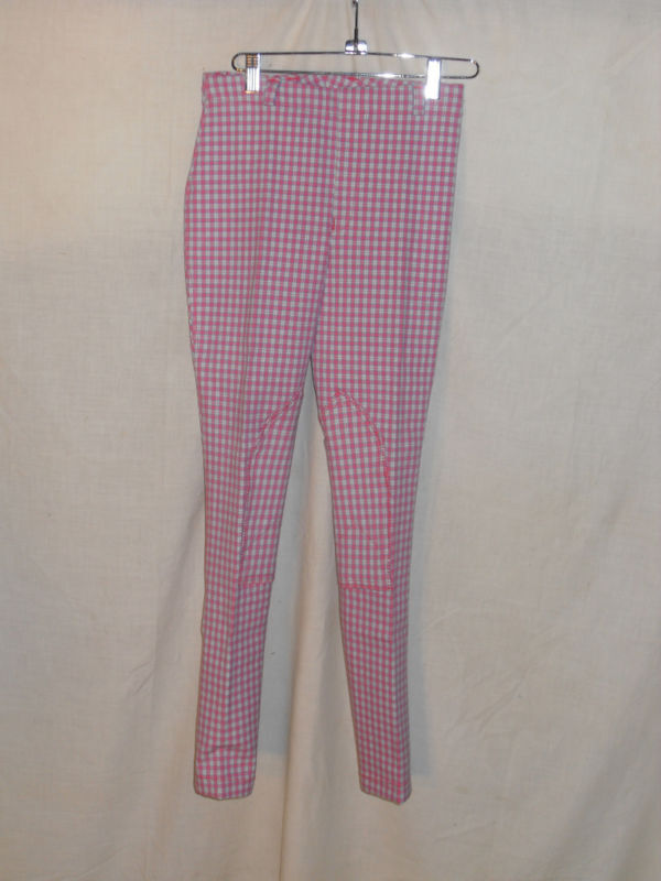 NEW PLAID BREECH SIZE 10, SELF  KNEE PATCH PINK,blueE,WH  a lot of concessions