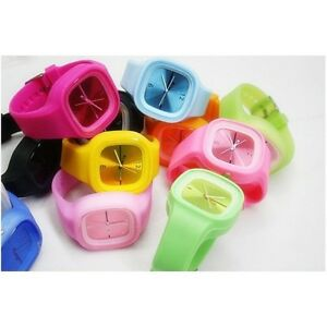 10-PCs-Slicone-Jelly-Watch-ss-com-Multicolor-Unisex