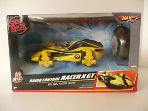 Hot Wheels Speed Racer Yellow Radio Control X GT NIB