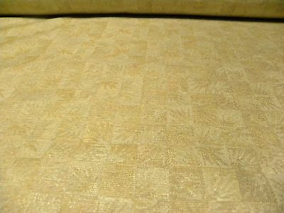 5+ Yards Patio RV Boat Upholstery Fabric Gold & Ivory