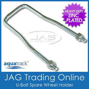 AQUATRACK-SPARE-WHEEL-TYRE-HOLDER-CARRIER-CLAMP-Caravan-RV-Boat-4x4-Box-Trailer