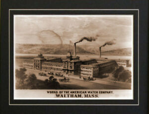 American-Watch-Co-Waltham-Mass-Old-1860-039-s-print-repo