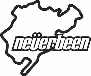 NURBURGRING-NEVER-BEEN-FUNNY-CAR-STICKER-decal-van-vw