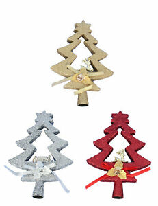 New-Festive-Glitter-Tree-Shaped-Christmas-Tree-Xmas-Decoration-Topper-Top-20cm