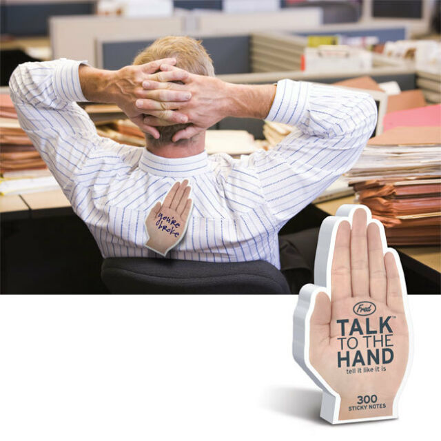 Talk to the Hand Sticky Notes-Notepad-Office Fun-Notes