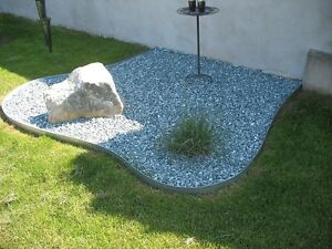 Rasenkanten Metall verzinkt Rasenkanten Stahl verzinkt 17-er Set ...