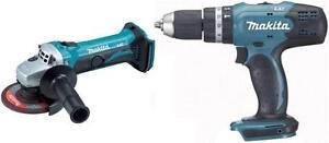 Makita-18v-Body-Only-DGA452Z-Grinder-DHP453Z-Combi-Drill