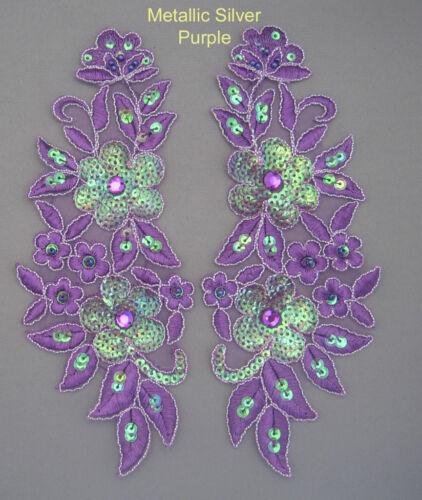 Spitze Pailletten Perlen 10 Motiv 12 Verfügbare Farben