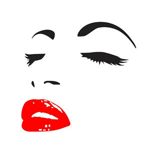 Sexy lady face dining room living room wall art decal sticker vinyl 3 sizes ebay