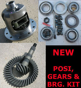 GM-Chevy-8-2-034-10-Bolt-Rearend-Eaton-Style-Posi-Gears-Bearing-Package-3-90-NEW