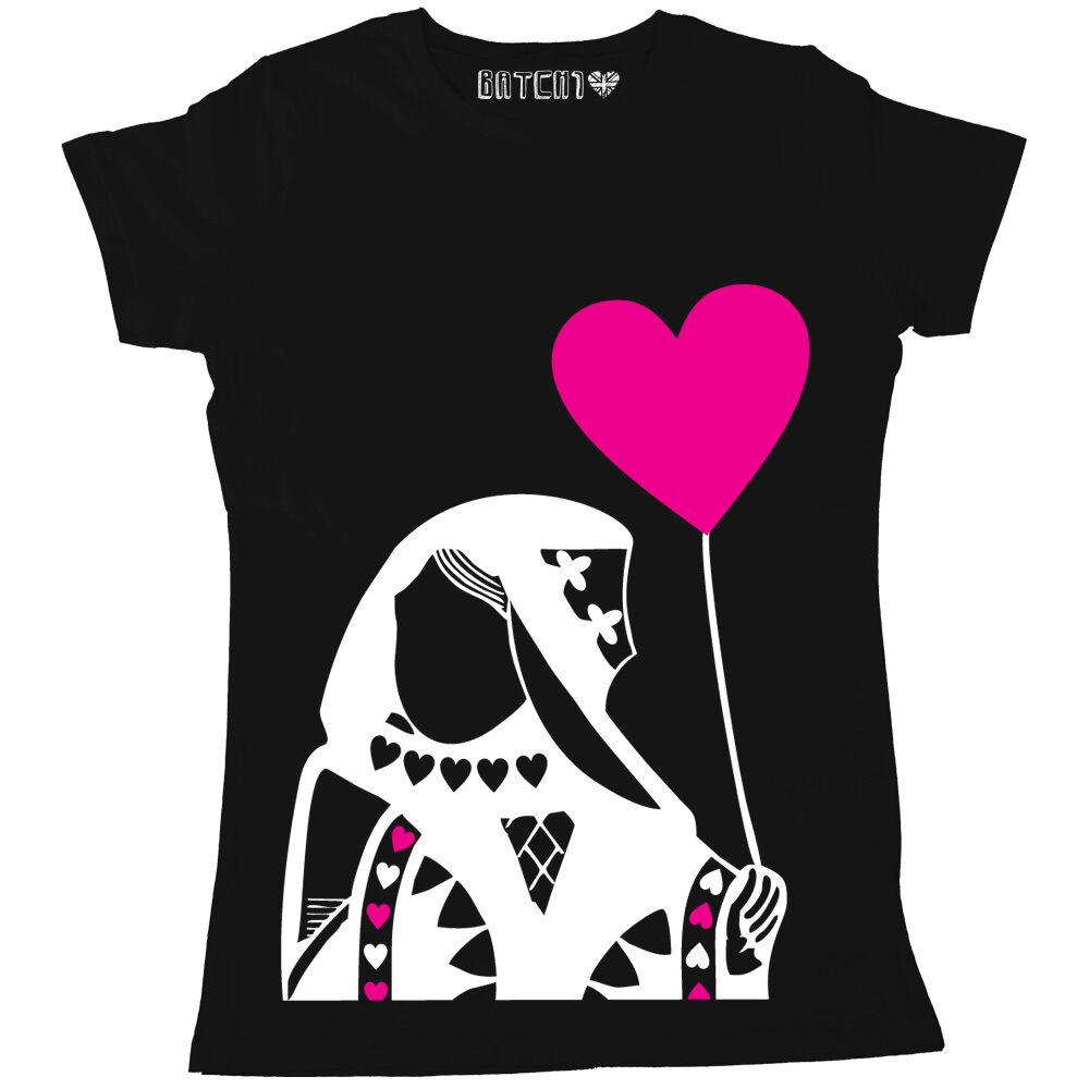 Banksy T Femmes Style C39023 De Imprimé Shirt Reine Coeur dnfdOxT