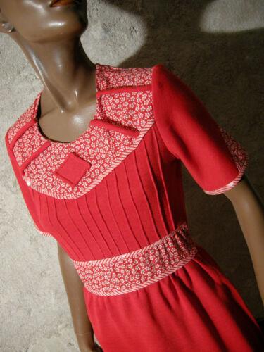 38 36 1960 Retro Cotone 60s Vestito Abito Chic Sessanta Vintage Anni Maglia qxPv1wHv8