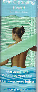 Ex-Long-Back-Scrub-Bath-Shower-Pad-Body-Mit-Scrub-Exfoliator-STRONG