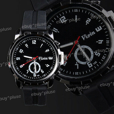 New Fashion Silicone Rubber Band Men Unisex Sport Analog Quartz Wrist watch Gift