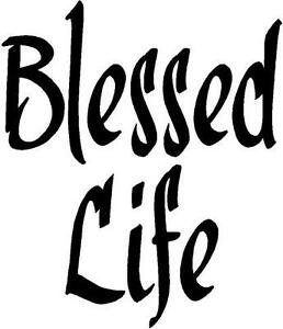 Honda Jdm Stickers BLESSED LIFE Decal Sticker Car decals GOD Christian JESUS ...