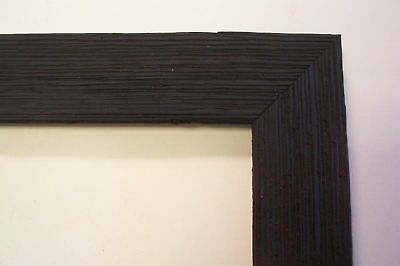 "1.5"" Wide Rough Black Barnwood Picture Frame-Square Sz."