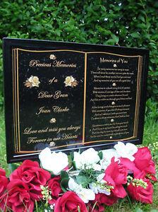 PERSONALISED-OCCASIONS-MEMORIAL-GRAVE-PLAQUE-MUM-DAD-GRAN-GRANDAD-SISTERBROTHE