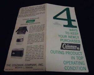 1960s-Vintage-COLEMAN-COMPANY-Operational-Brochure-Sporting-Outdoor-Gear