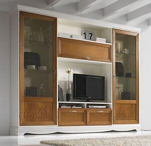 Parete attrezzata ok come vetrina libreria e porta tv for Parete attrezzata bianca e nera