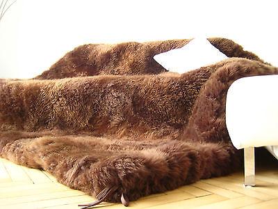 12 cm ! dicke Schaffell Decke wie Bärenfell Dunkelbraun Kamin Fell Lammfell