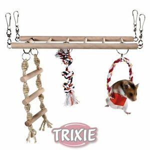 TRIXIE-HANGING-HAMSTER-MOUSE-GERBIL-SUSPENSION-BRIDGE-CLIMBING-CAGE-TOY-6274