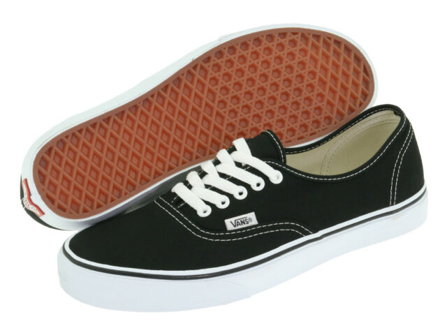 Vans Authentic Classic Canvas Black White Lace-up SkateBoarding Men Women Shoes