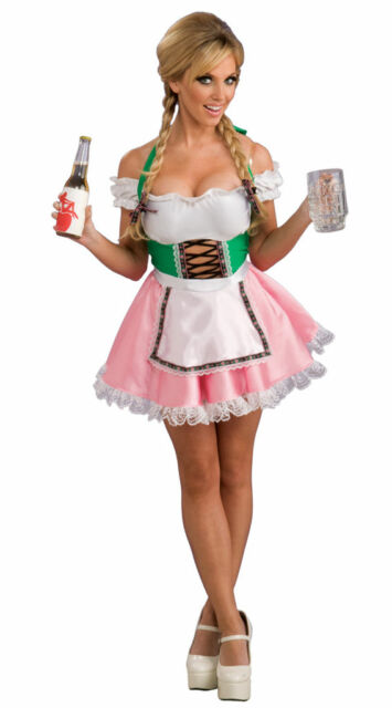 Waitress Halloween Costume character sexy waitress color blackwhite material polyester whats included dress headpiece apron choker size one size fits most xs m Sexy Adult Halloween Beer On Me German Oktoberfest Waitress Barmaid Costume