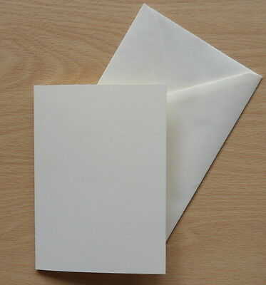 100 x QUALITY A5 400GSM SILK CARD BLANKS + ENV ( IDEAL FOR MATTING & LAYERING)