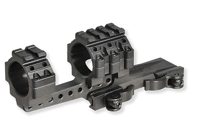 Offset Rifle Scope Mount, 30mm w/4 Picatinny Slots, Quick Detach QD Scope Rings