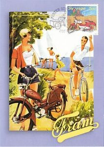 Classic-Vintage-Fram-Great-Moped-Motor-Bike-Sweden-Maxi-FDC-2005