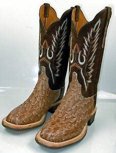 Lucchese Cx2107 Tan Full Quill Ostrich Womens Western