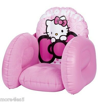 Hello Kitty Flocked Inflatable Chair Hello Kitty *Brand New Boxed*  Gilrs Gift