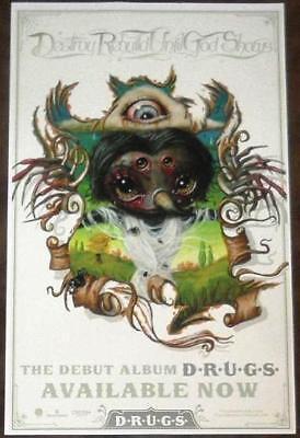 D.R.U.G.S Destroy Rebuild Until God Shows Ltd Ed Discontinued RARE Poster! Metal