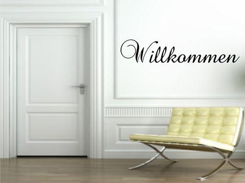 Flur,Diele Wandtattoo Willkommen Wohnzimmer