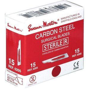 Swann-Morton-Sterile-Scalpel-Blades-Surgical-Blades-x-100-Chiropody-Blades-Sharp