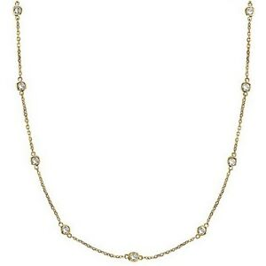 CZ-by-the-Yard-Inch-18K-Yellow-Gold-Vermeil-Long-Chain-Necklace-24-034-36-034-54-034