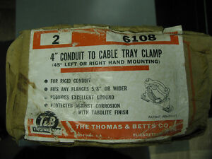 "Thomas & Betts T&B 6108 4"" Conduit to Cable Tray Clamp (2 in box)"