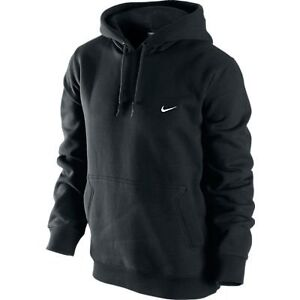Nike-Classic-Mens-Fleece-Hoodie-341572-pullover-OTH-Over-the-Head-BLACK