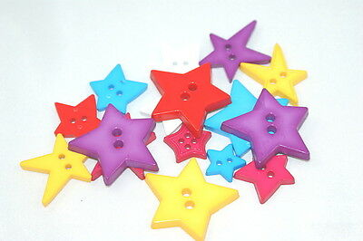 Mixed Assorted Star Buttons